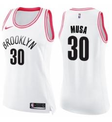0fb34729e ... Gray NBA Jersey Statement Edition   26.00. Women s Nike Brooklyn Nets  30  Dzanan Musa Swingman White Pink Fashion NBA Jersey