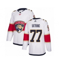 Men's Florida Panthers #77 Frank Vatrano Authentic White Away Hockey Jersey