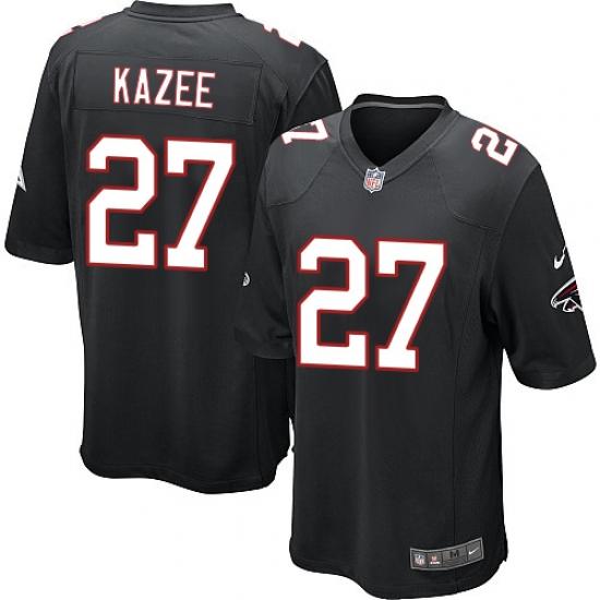 90e5b99ff Men s Nike Atlanta Falcons  27 Damontae Kazee Game Black Alternate NFL  Jersey