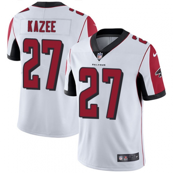 Men s Nike Atlanta Falcons  27 Damontae Kazee White Vapor Untouchable  Limited Player NFL Jersey 167c65ce2
