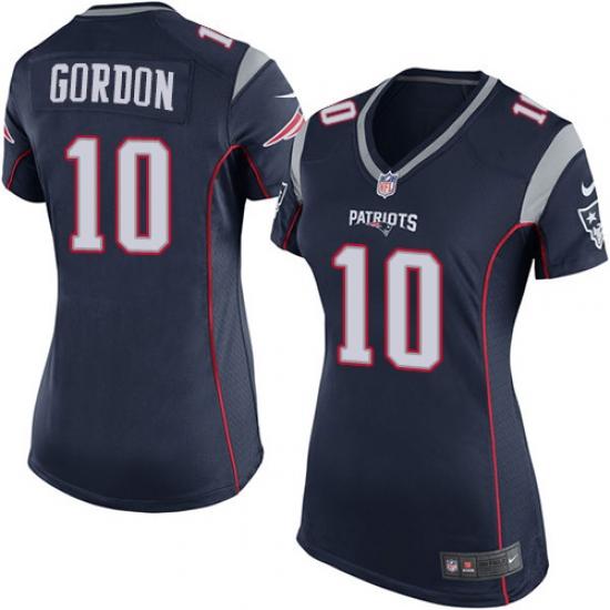 uk availability a3619 b3c8a Women's Nike New England Patriots #10 Josh Gordon Game Navy ...
