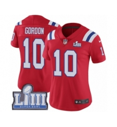 Women s Nike New England Patriots  10 Josh Gordon Red Alternate Vapor  Untouchable Limited Player Super ae5ed115c