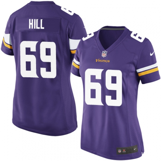 7effe1c72 Women s Nike Minnesota Vikings  69 Rashod Hill Game Purple Team Color NFL  Jersey