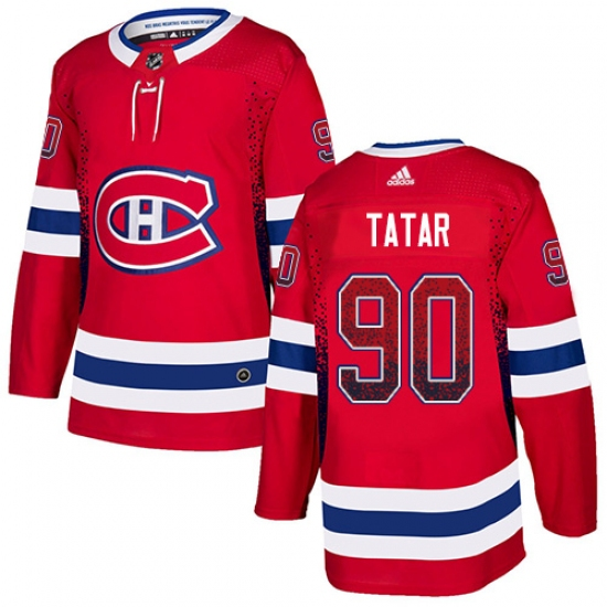 best sneakers 633d8 fe077 Men's Adidas Montreal Canadiens #90 Tomas Tatar Authentic ...