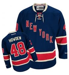 735f21370 Men s Reebok New York Rangers  48 Brett Howden Authentic Navy Blue Third NHL  Jersey
