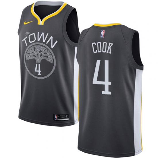 hot sale online cb9b3 0e27c Men's Nike Golden State Warriors #4 Quinn Cook Swingman ...