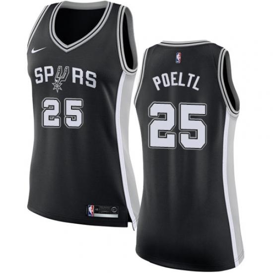 promo code 65211 86749 Women's Nike San Antonio Spurs #25 Jakob Poeltl Swingman ...
