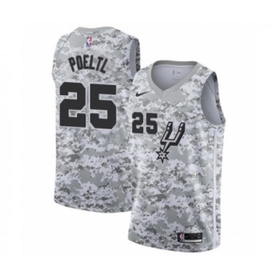 best sneakers b5db0 23794 Women's San Antonio Spurs #25 Jakob Poeltl White Swingman ...