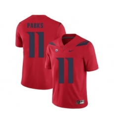 Arizona Wildcats 11 Will Parks Red College Football Jersey