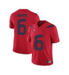 Arizona Wildcats 6 Shun Brown Red College Football Jersey