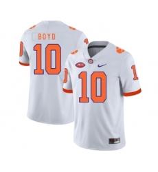 Clemson Tigers 10 Tajh Boyd White Nike College Football Jersey