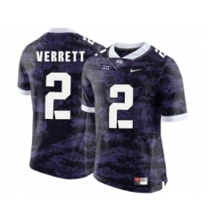 TCU Horned Frogs 2 Jason Verrett Purple College Football Limited Jersey