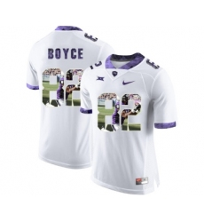 TCU Horned Frogs 82 Josh Boyce White With Portrait Print College Football Limited Jersey