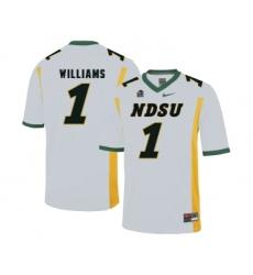 North Dakota State Bison 1 Marcus Williams White College Football Jersey