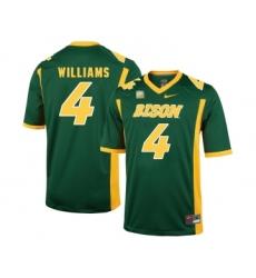 North Dakota State Bison 4 Dimitri Williams Green College Football Jersey