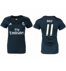 2018-19 Real Madrid 11 BALE Away Women Soccer Jersey