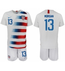 2018-19 USA 13 MORGAN Home Soccer Jersey