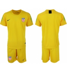 2018-19 USA Yellow Goalkeeper Soccer Jersey
