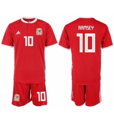 2018-19 Welsh 10 RAMSEY Home Soccer Jersey