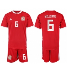 2018-19 Welsh 6 WILLIAMS Home Soccer Jersey