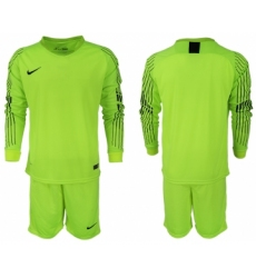 2018-19 USA Fluorescent Green Goalkeeper Long Sleeve Soccer Jersey