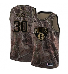 0bde018b5 Women s Nike Brooklyn Nets  30 Dzanan Musa Swingman Camo Realtree  Collection NBA Jersey