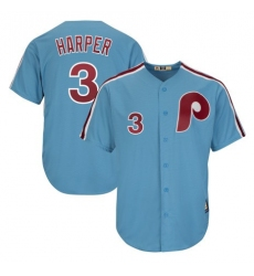 Women's Philadelphia Phillies #3 Bryce Harper Light Blue Alternate Cool Base Cooperstown Stitched MLB Jersey