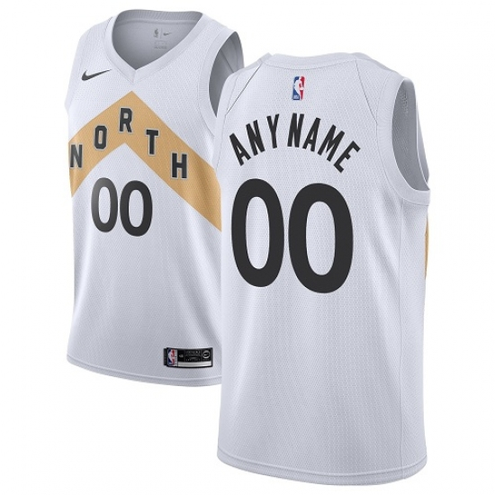 promo code 2eeb2 b7bd9 Youth Nike Toronto Raptors Customized Swingman White NBA ...