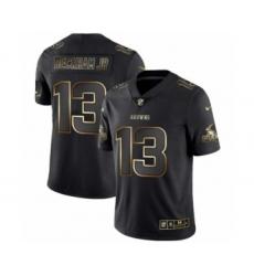 Men Cleveland Browns #13 Odell Beckham Jr Black Golden Edition 2019 Vapor Untouchable Limited Jersey