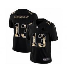 Men's Cleveland Browns #13 Odell Beckham Jr. Limited Black Statue of Liberty Football Jersey