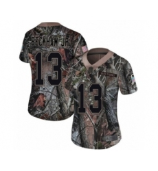Women's Odell Beckham Jr. Limited Camo Nike Jersey NFL Cleveland Browns #13 Rush Realtree