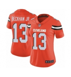 Women's Odell Beckham Jr. Limited Orange Nike Jersey NFL Cleveland Browns #13 Alternate Vapor Untouchable