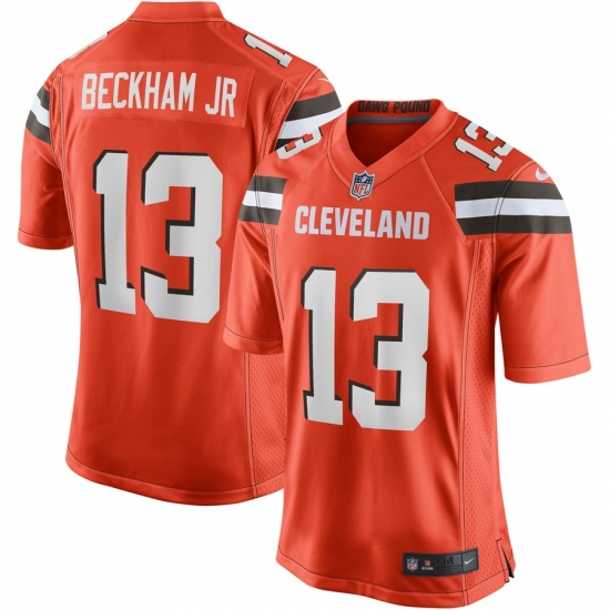official photos 44091 4be62 Youth Cleveland Browns #13 Odell Beckham Jr Nike Orange Game ...