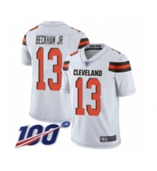 Youth Cleveland Browns #13 Odell Beckham Jr. White 100th Season Vapor Untouchable Limited Player Football Jersey