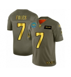Men's Jacksonville Jaguars #7 Nick Foles Olive Gold 2019 Salute to Service Limited Football Jersey