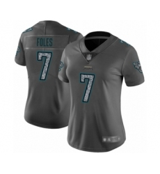 Women's Jacksonville Jaguars #7 Nick Foles Limited Gray Static Fashion Football Jersey