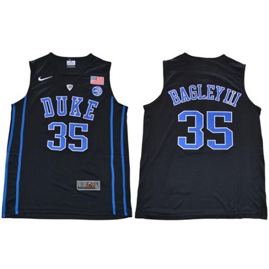best sneakers a58a3 bd388 Duke Blue Devils #35 Marvin Bagley III Black Basketball ...