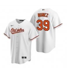 Men's Nike Baltimore Orioles #39 Renato Nunez White Home Stitched Baseball Jersey