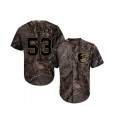 Youth Baltimore Orioles #53 Dan Straily Authentic Camo Realtree Collection Flex Base Baseball Jersey