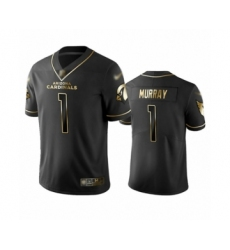 Men's Arizona Cardinals #1 Kyler Murray Limited Black Golden Edition Football Jersey
