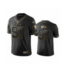 Men's San Francisco 49ers #97 Nick Bosa Limited Black Golden Edition Football Jersey