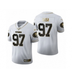 Men's San Francisco 49ers #97 Nick Bosa Limited White Golden Edition Football Jersey