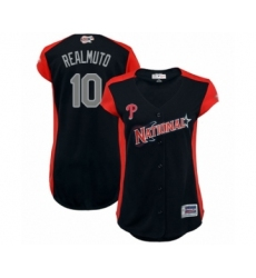 Women's Philadelphia Phillies #10 J. T. Realmuto Authentic Navy Blue National League 2019 Baseball All-Star Jersey