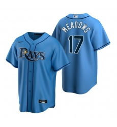 Men's Nike Tampa Bay Rays #17 Austin Meadows Light Blue Alternate Stitched Baseball Jersey