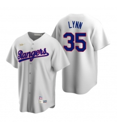 Men's Nike Texas Rangers #35 Lance Lynn White Cooperstown Collection Home Stitched Baseball Jersey