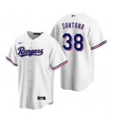 Men's Nike Texas Rangers #38 Danny Santana White Home Stitched Baseball Jersey