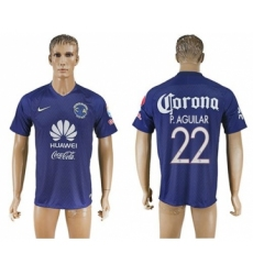 America #22 P.Aguilar Blue Soccer Club Jersey