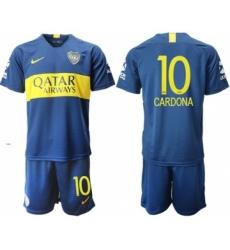 Boca Juniors #10 Cardona Home Soccer Club Jersey