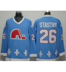 Nordiques #26 Peter Stastny Light Blue CCM Throwback Stitched NHL Jersey