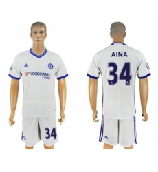 Chelsea #34 Aina White Soccer Club Jersey
